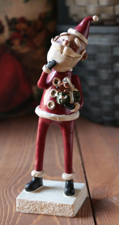 Santa with Present Figure