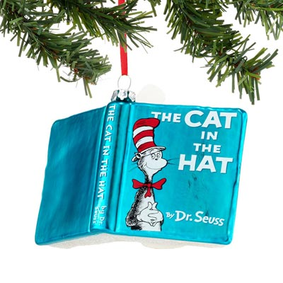 Cat in the Hat Book Ornament