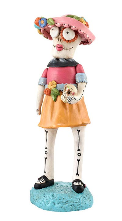 Day of the Dead Female Skelly Figure