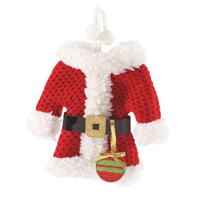 Santa Suit Ornament/Card Holder