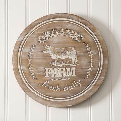 Organic Farm Lazy Susan with Cow