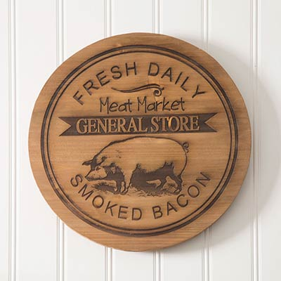 Meat Market Lazy Susan with Pig