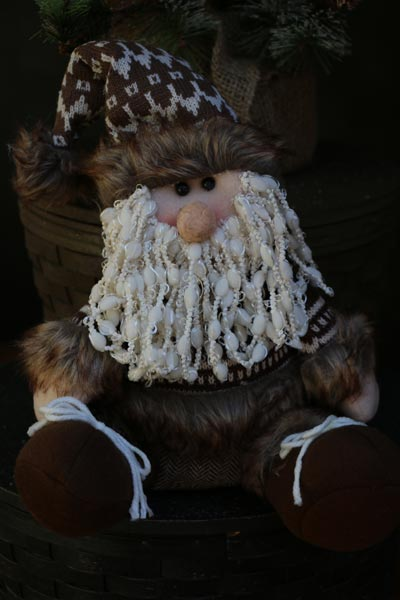 Furry Santa Claus Figure