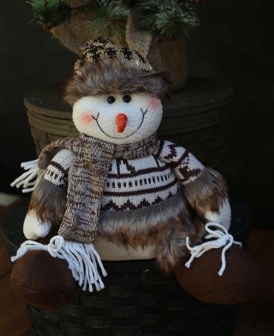 Furry Snowman Figure