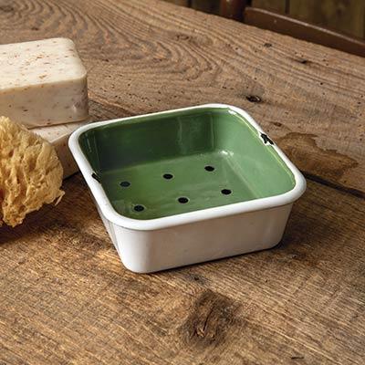 Green Enamel 2-Piece Dish