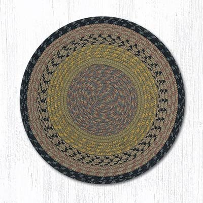 Brown, Black, and Charcoal Cotton Braid Chair Pad