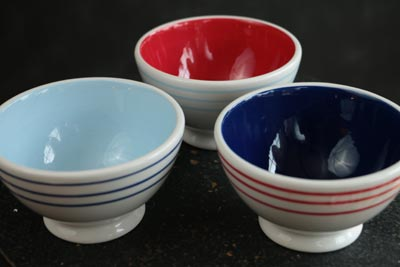 Stars and Stripes Fluted Prep Bowl