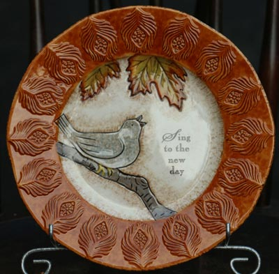 Indian Summer Accent Plate - Bird