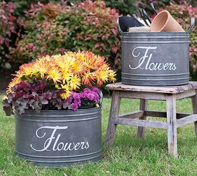 Flower Buckets (Set of 2)