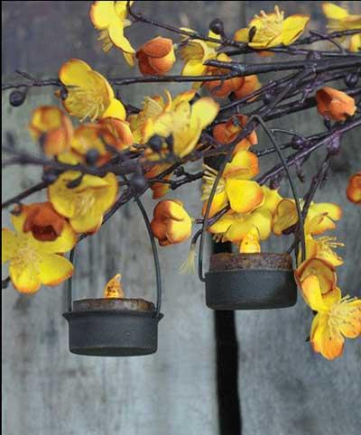 Simple Primitive Hanging Tealight Holder