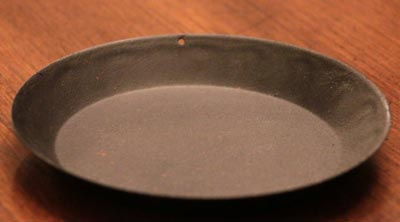Rusty Metal Candle Pan - 5 inch