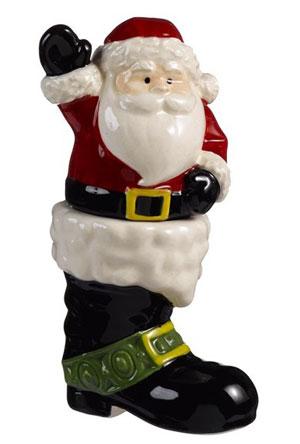 Santa & Boot Stackable Salt/Pepper Shaker Set