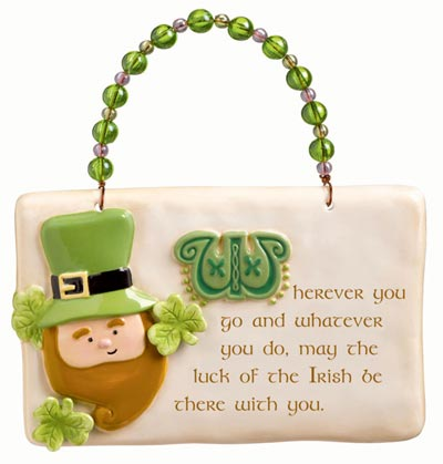 So Lucky Plaque with Leprechaun