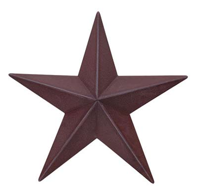 Burgundy Barn Star, 12 inch