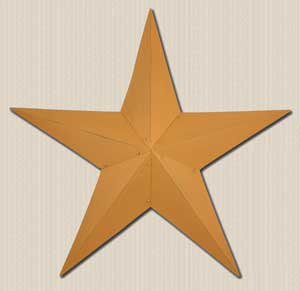 Primitive Wall Star, 18 inch - Mustard