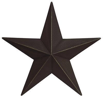 Primitive Wall Star, 12 inch - Black