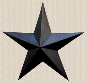 Primitive Wall Star, 18 inch - Black