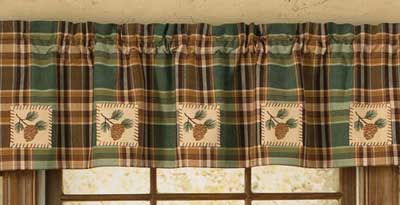 Wood River Patch Lined Valance