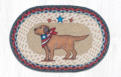 Yellow Lab Braided Placemat