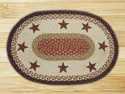 Barn Star Braided Jute Placemat