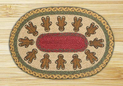 Gingerbread Men Braided Placemat