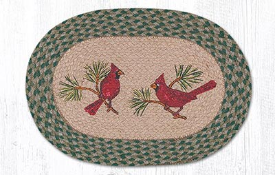 Cardinals Braided Placemat - Oval