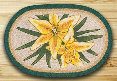 Yellow Lilies Braided Placemat
