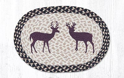 Bucks Braided Placemat - Oval