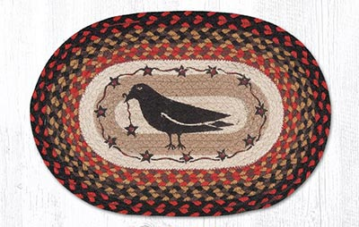 Crow & Star Braided Placemat - Oval