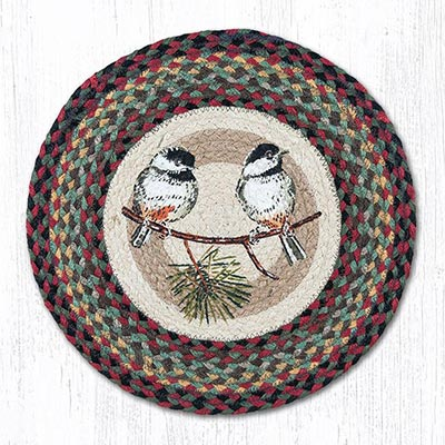 Chickadee Round Braided Chair Pad