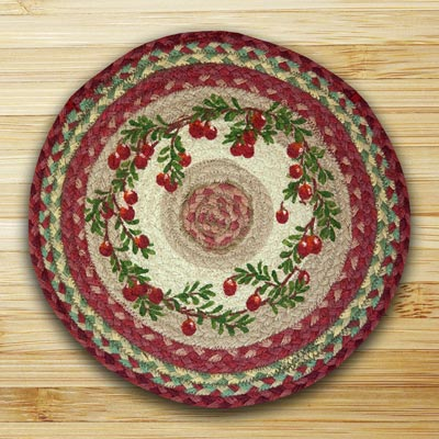 Cranberries Printed Chair Pad