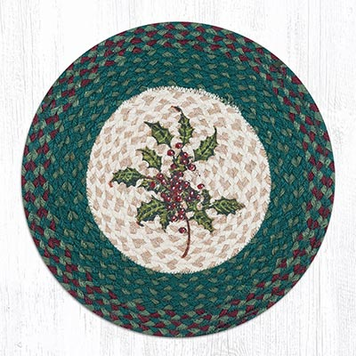 Holly Round Braided Chair Pad