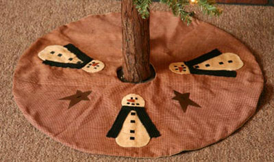 Snowman & Stars Mini Tree Skirt