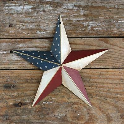 Americana Hand-Painted Barn Star - 8 inch