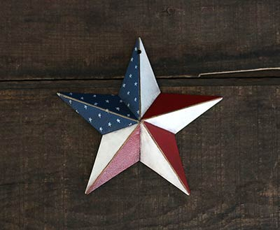 Americana Hand-Painted Barn Star - 5 inch