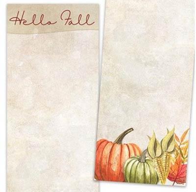 Hello Fall Pumpkins List Notepad