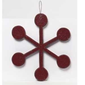 Small Red Snowflake Ornament