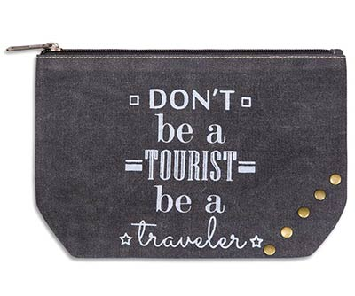 Don't Be A Tourist Small Travel Pouch