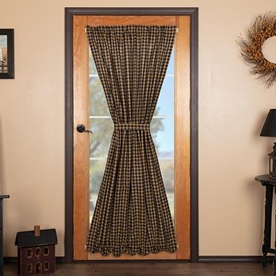 Black Check Door Panel