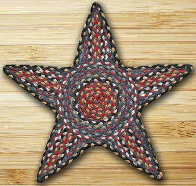 Burgundy, Blue, & Grey Star Trivet