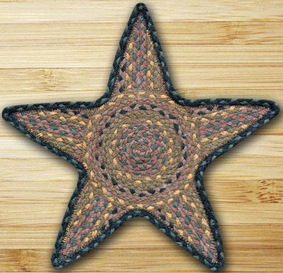 Brown, Black, & Charcoal Star Trivet