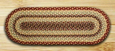 Brown black and charcoal braided jute 36 inch for Table runners 52 inches