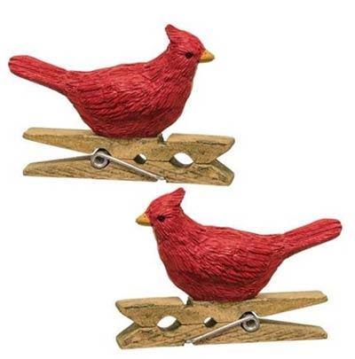 Cardinal Clip Ornaments (Set of 2)