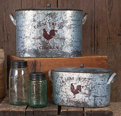 Farm Fresh Chicken Buckets (Set of 2)