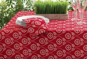 Floral Bandana Napkin - Red