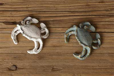 Cast Iron Crab Figurine