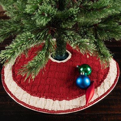 Chenille Christmas Mini Tree Skirt 21
