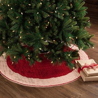 Chenille Christmas Tree Skirt 48