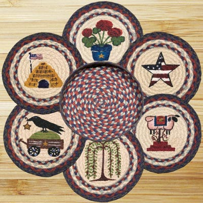 Summer Braided Jute Trivet Set