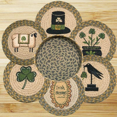 Irish Braided Jute Trivet Set
